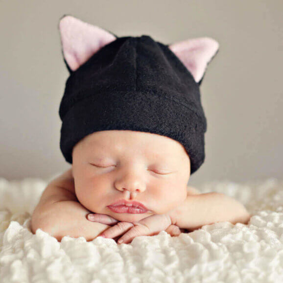 Animal Ears Fleece Hat Pattern For Baby And Children Rabbit Cat Hat