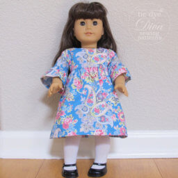 Clementine Dress and Top Sewing Pattern for 18 inch Doll like American Girl by Tie Dye Diva