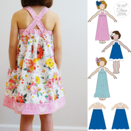 Solana Sun Dress Pattern For Girls